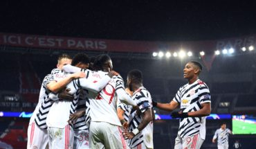 manchester united celebrate vs psg